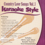 Karaoke Style: Country Love Songs, Vol. 3