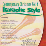 Karaoke Style: Contemporary Christmas, Vol. 4