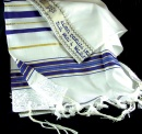 Prayer Shawl: Acrylic Blue/Gold | 24 inches