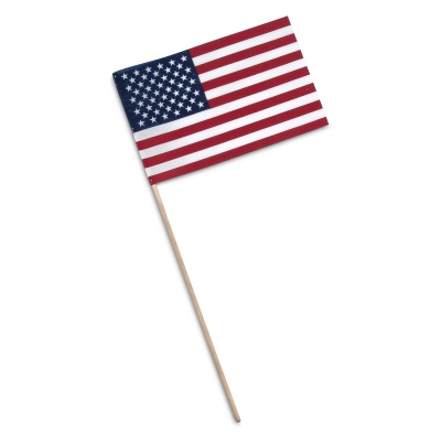 US Flag with Spear: 8x12 Inches